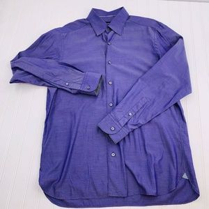 ERMENEGILDO ZEGNA Large Mens Dress Shirt Purple